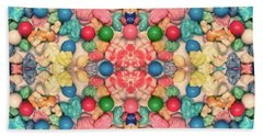 Beach Towel featuring the digital art Bubble Gum #9776 by Barbara Tristan