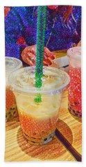 Bubble Tea For Three Beach Sheet