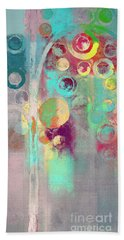 Beach Towel featuring the digital art Bubble Tree - 285r by Variance Collections