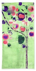 Beach Towel featuring the digital art Bubble Tree - 224c33j5l by Variance Collections
