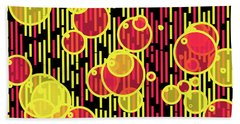Bubbles And Lines Beach Towel
