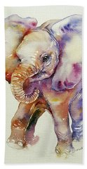 Bubbles Baby Elephant Beach Sheet
