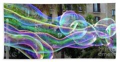 Bubbles Barcelona Beach Towel