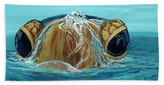Beach Towel featuring the painting Bubbles by Darice Machel McGuire
