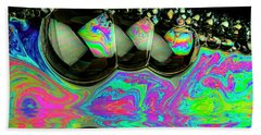 Beach Towel featuring the photograph Bubbles Redux by Jean Noren