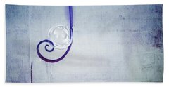 Beach Towel featuring the digital art Bubbling - 033a by Variance Collections