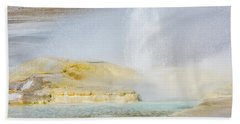 Beach Towel featuring the photograph Bubbling Earth by Colleen Coccia
