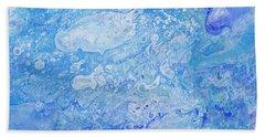 Bubbly Blues Beach Towel
