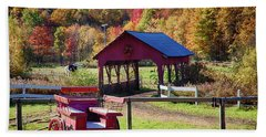 Beach Towel featuring the photograph Buck Board Ready For Fall Colors by Jeff Folger