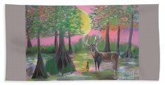 Buck In Swamp Beach Towel
