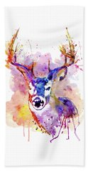 Beach Towel featuring the mixed media Buck by Marian Voicu