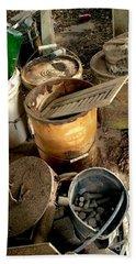 Buckets Of Rust And Dust Beach Sheet