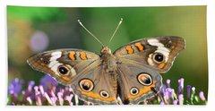 Buckeye Butterfly Beach Sheet by Kathy Eickenberg