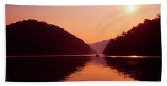 Beach Sheet featuring the photograph Buckhorn Lake Sunset by Thomas R Fletcher