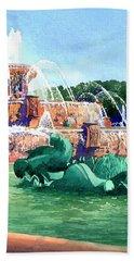 Buckingham Fountain Beach Towel