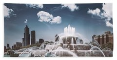 Buckingham Fountain Beach Towel by Scott Norris