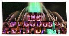 Buckingham Memorial Fountain # 9 Beach Sheet