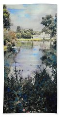 Beach Towel featuring the painting Buckingham Palace Garden - No One by Richard James Digance