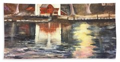 Bucks County Playhouse Beach Towel by Lucia Grilletto