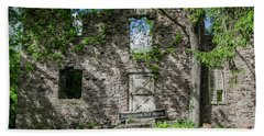 Bucks County Ruin - Bridgetown Mill House Beach Sheet by Bill Cannon