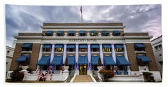 Beach Towel featuring the photograph Buckstaff Bathhouse - Christmas by Stephen Stookey