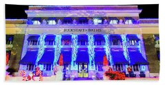 Beach Towel featuring the photograph Buckstaff Baths - Christmastime by Stephen Stookey