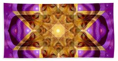 Beach Towel featuring the painting Buddha Mandala by Sue Halstenberg