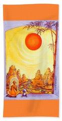 Buddha Meditation Beach Towel