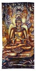 Buddha Reflections Beach Sheet by Harsh Malik