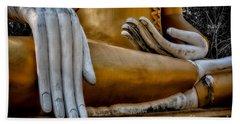 Buddhist Statue Beach Towel