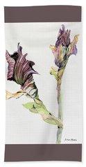 Budding Irises Beach Sheet by Mindy Newman