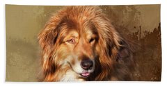 Beach Towel featuring the photograph Buddy by Theresa Tahara