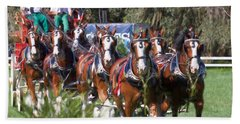 Budweiser Clydesdales Perfection Beach Sheet