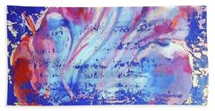Beach Towel featuring the painting Bue Gift by Eva Konya