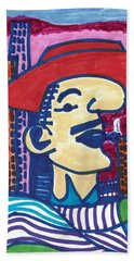 Beach Towel featuring the mixed media Buenos Aires Casanova by Don Koester