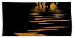 Buffalo In The Moonlight Beach Towel