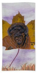 Buffalo Profile Beach Towel