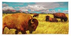 Buffalos On The Range Beach Sheet
