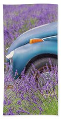 Bug In Lavender Field Beach Sheet by Patricia Davidson