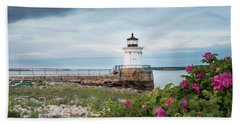 Bug Light Blooms Beach Sheet
