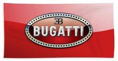 Bugatti - 3 D Badge On Red Beach Towel