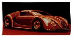 Bugatti Veyron 'beetgatti' 1945 Painting Beach Towel