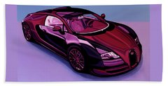 Bugatti Veyron 2005 Painting Beach Towel