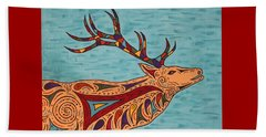 Beach Towel featuring the painting Bugle Boy by Susie WEBER