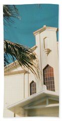 Building Behind Palm Tree In Ostia, Rome Beach Towel