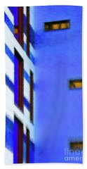 Beach Towel featuring the digital art Building Block - Blue by Wendy Wilton