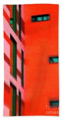 Beach Towel featuring the digital art Building Block - Red by Wendy Wilton