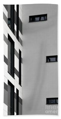 Beach Towel featuring the photograph Building Block - Black And White by Wendy Wilton