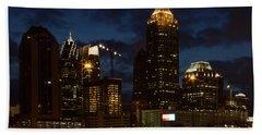 Beach Towel featuring the photograph Building Boom Midtown Atlanta Construction Art by Reid Callaway