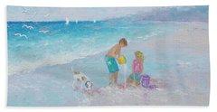 Building Sandcastles Beach Towel
